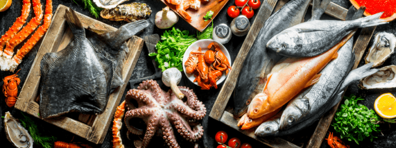 table-of-fresh-fish-and-seafood