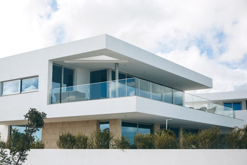 White residential building in the south of Portugal