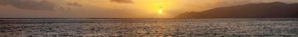 Coucher de soleil sur la plage de Troia